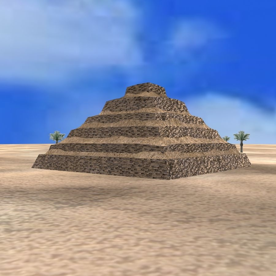 Egyptian Step Pyramid royalty-free 3d model - Preview no. 4