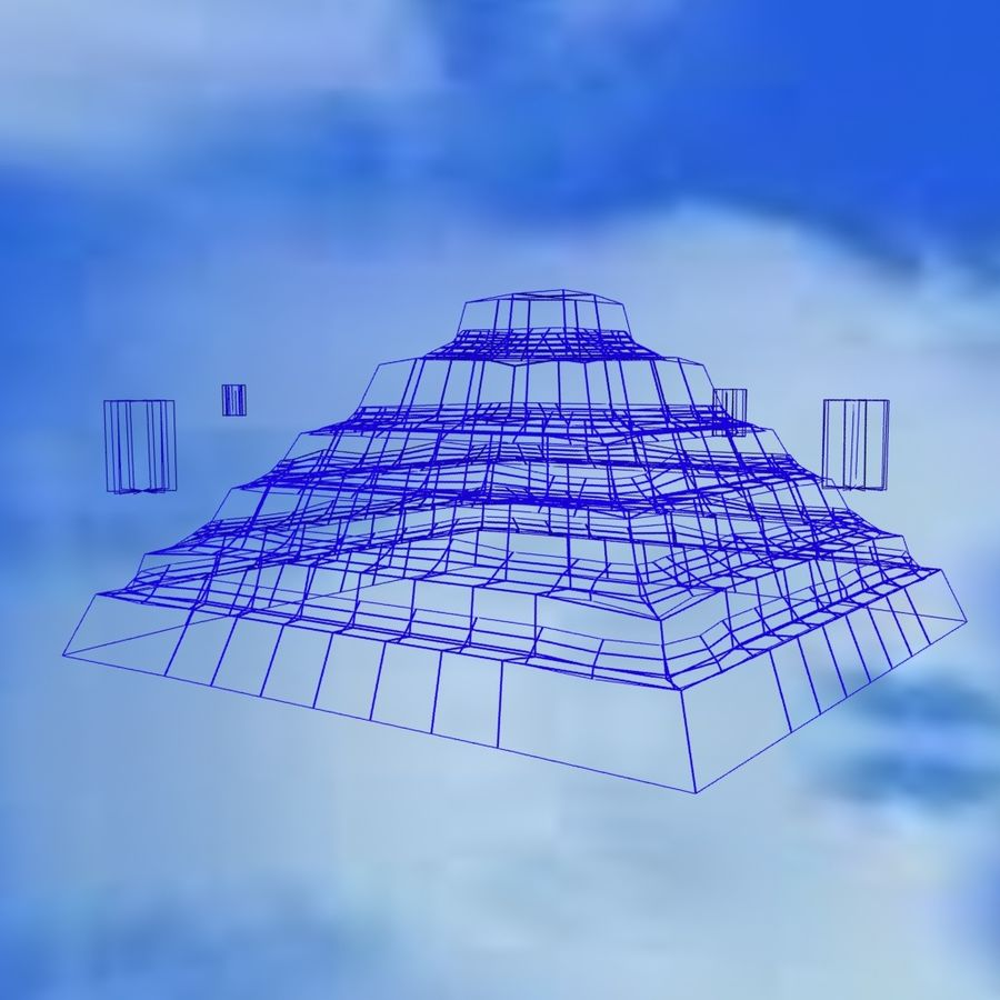 Egyptian Step Pyramid royalty-free 3d model - Preview no. 6