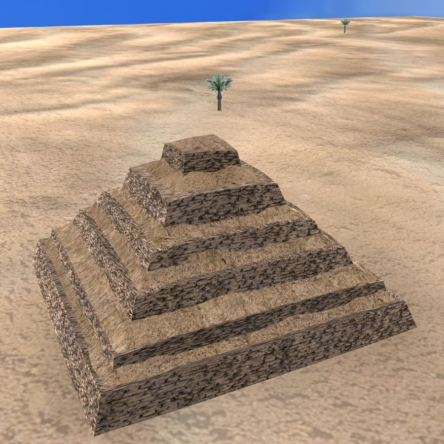 Egyptian Step Pyramid royalty-free 3d model - Preview no. 2