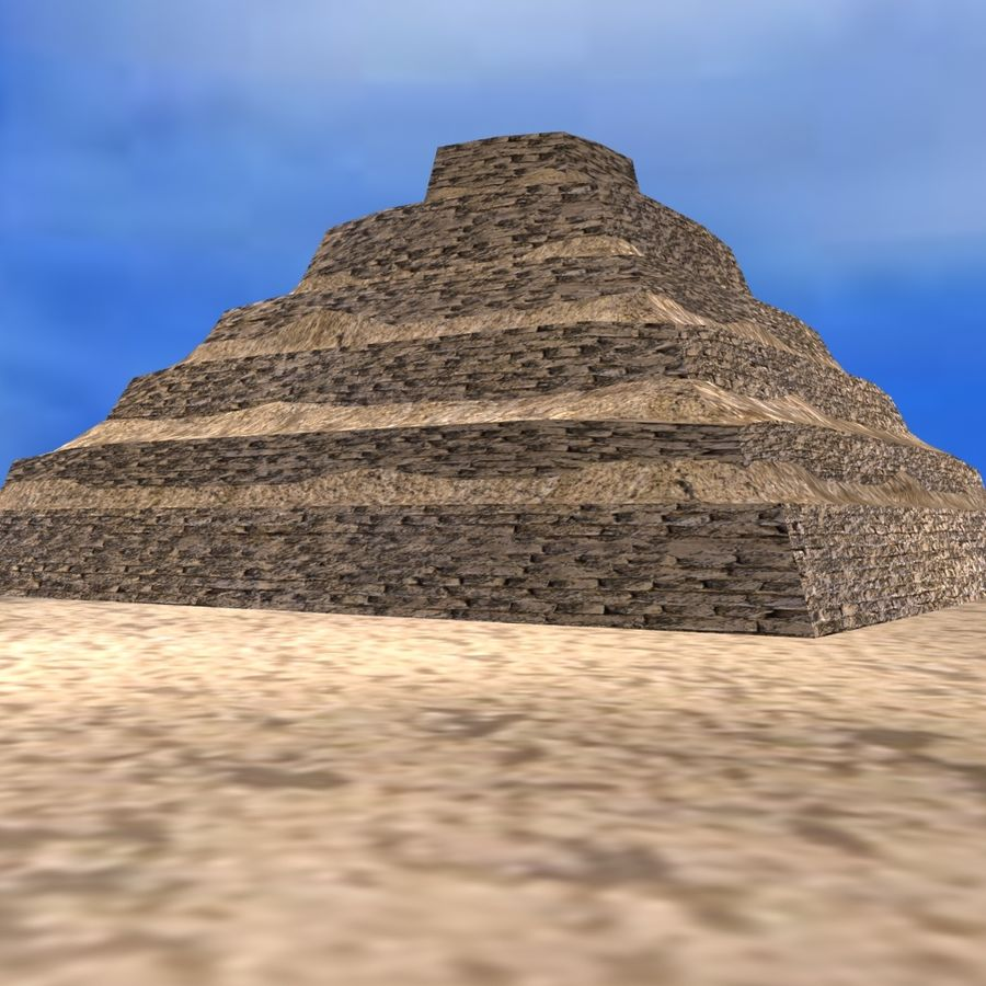 Egyptian Step Pyramid royalty-free 3d model - Preview no. 5