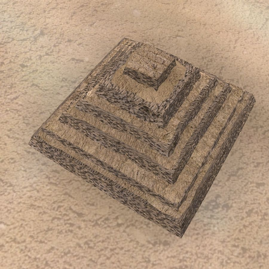 Egyptian Step Pyramid royalty-free 3d model - Preview no. 3