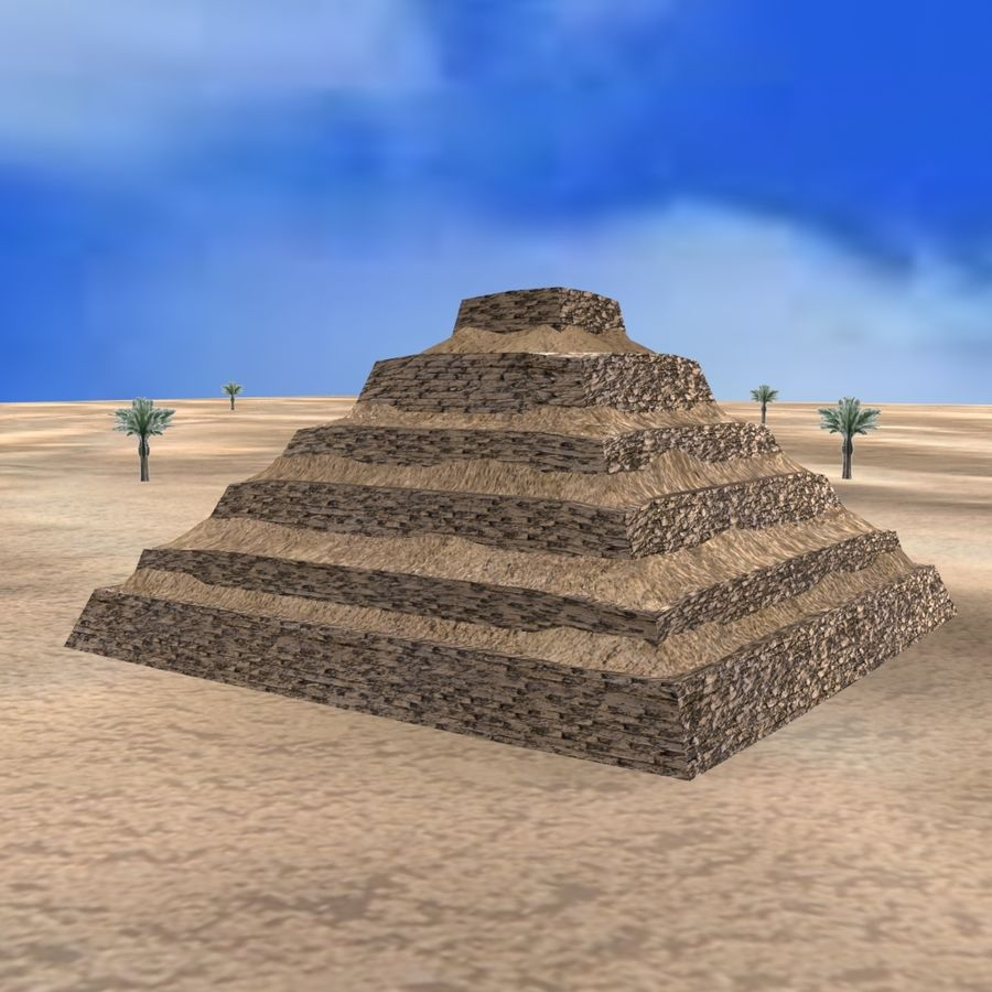 Egyptian Step Pyramid royalty-free 3d model - Preview no. 1