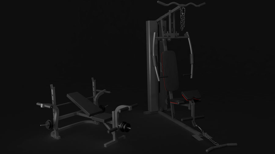 Equipamento de ginástica 1 royalty-free 3d model - Preview no. 3