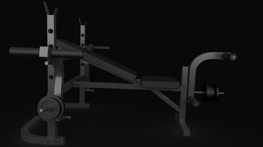 Equipamento de ginástica 1 royalty-free 3d model - Preview no. 10