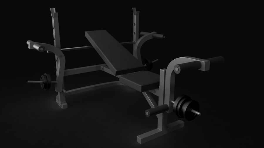 Gym apparatuur 1 royalty-free 3d model - Preview no. 9