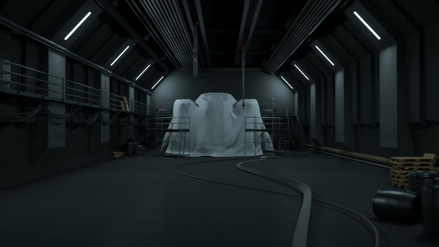 Hangar royalty-free 3d model - Preview no. 1