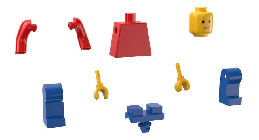 LEGO royalty-free 3d model - Preview no. 8