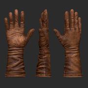 Eski kahverengi deri eldiven 3d model