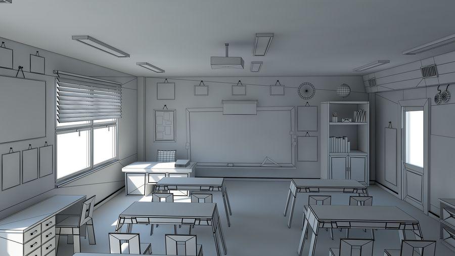 漫画教室3Dモデル royalty-free 3d model - Preview no. 16