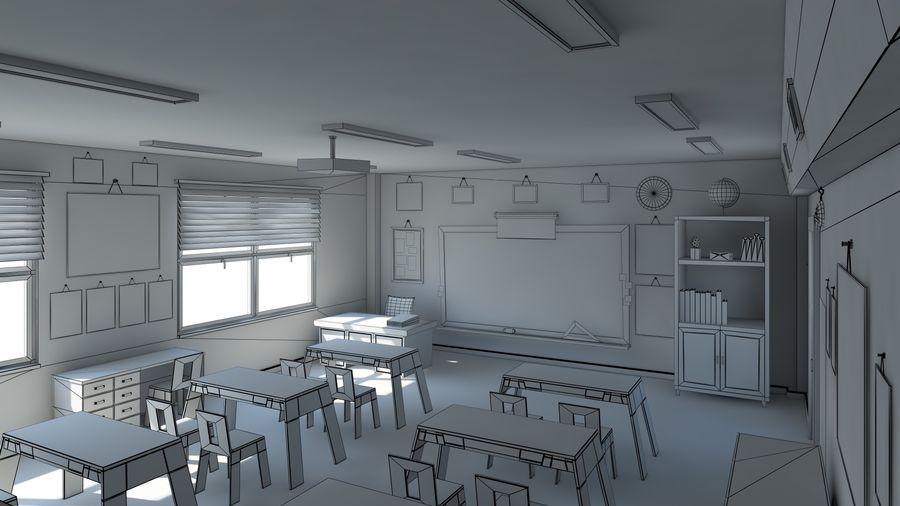 漫画教室3Dモデル royalty-free 3d model - Preview no. 8