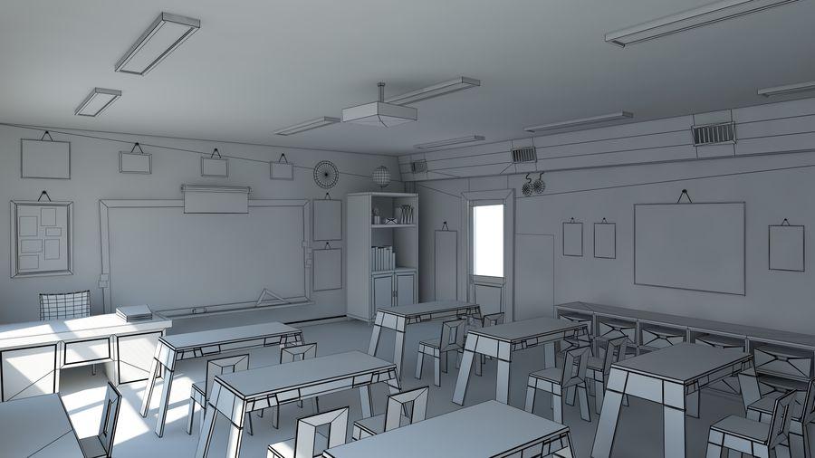 漫画教室3Dモデル royalty-free 3d model - Preview no. 20