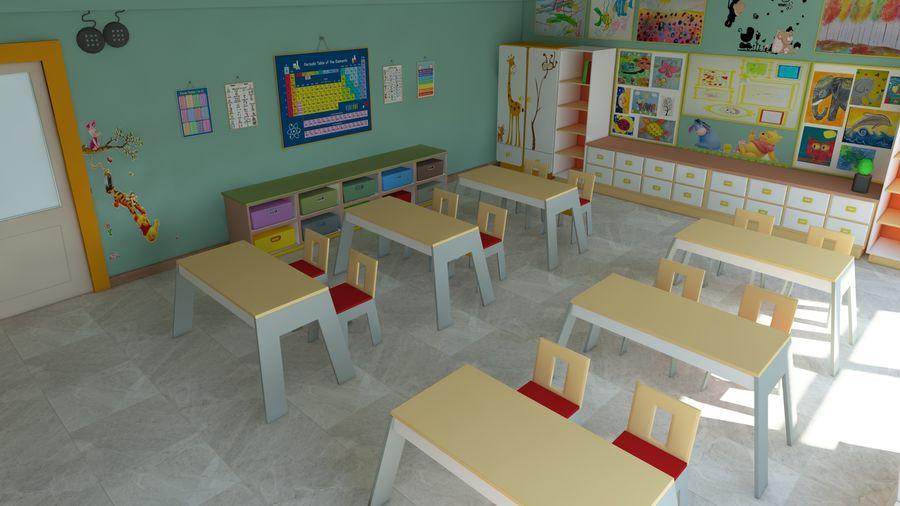 漫画教室3Dモデル royalty-free 3d model - Preview no. 11