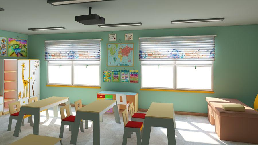 漫画教室3Dモデル royalty-free 3d model - Preview no. 6
