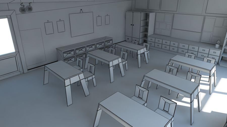 漫画教室3Dモデル royalty-free 3d model - Preview no. 18