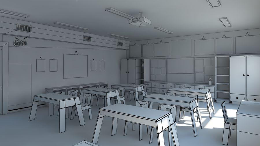 漫画教室3Dモデル royalty-free 3d model - Preview no. 12