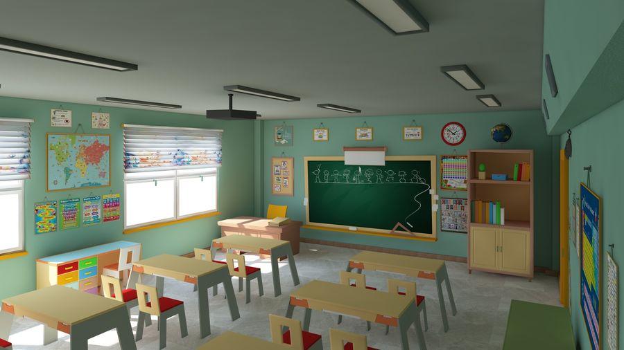 漫画教室3Dモデル royalty-free 3d model - Preview no. 2