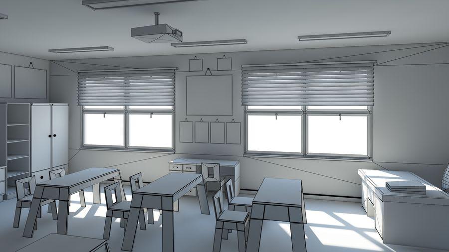 漫画教室3Dモデル royalty-free 3d model - Preview no. 15