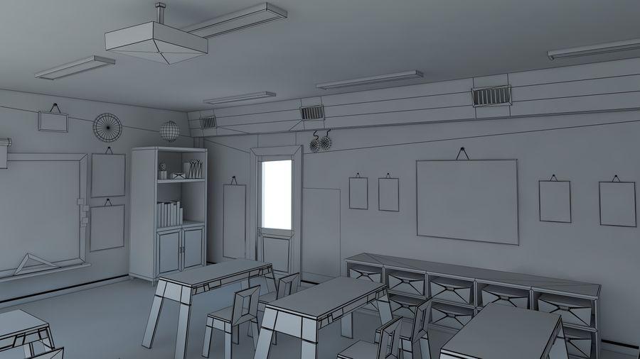 漫画教室3Dモデル royalty-free 3d model - Preview no. 14