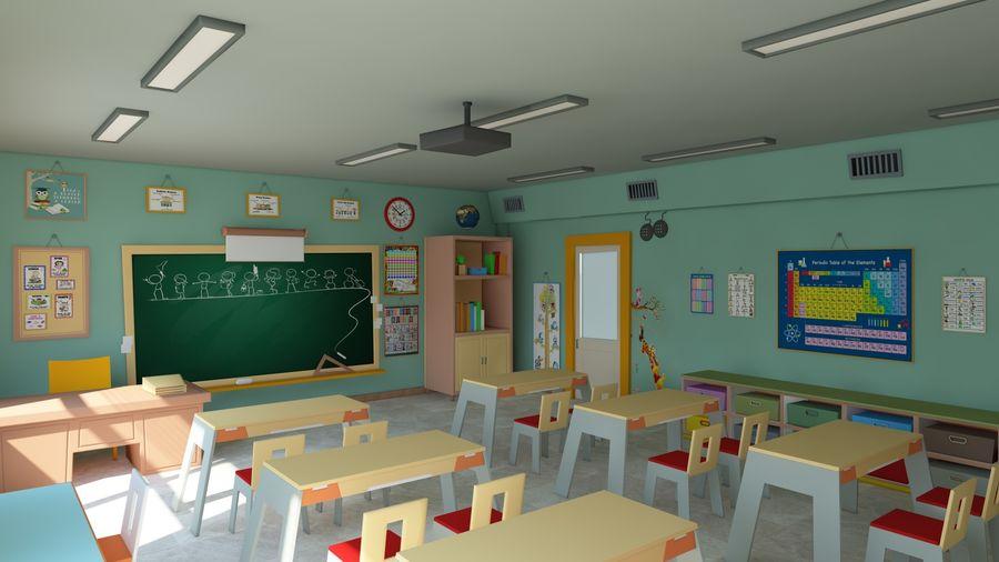 漫画教室3Dモデル royalty-free 3d model - Preview no. 1