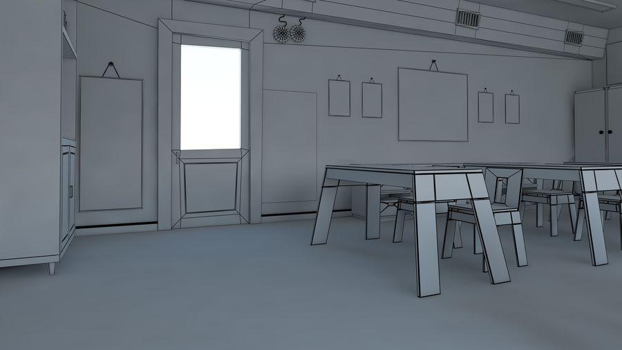 漫画教室3Dモデル royalty-free 3d model - Preview no. 19