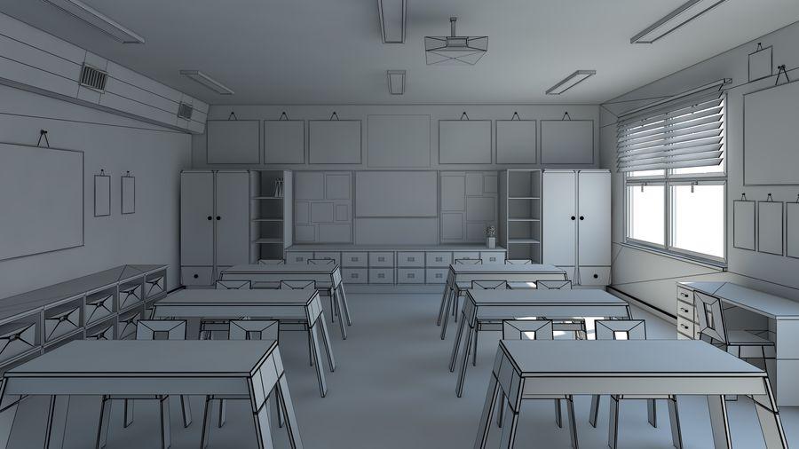 漫画教室3Dモデル royalty-free 3d model - Preview no. 17