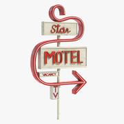 Motel-Zeichen 2 3d model