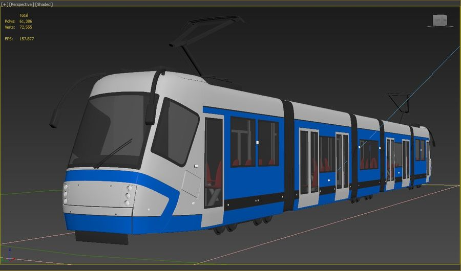 Train royalty-free 3d model - Preview no. 8