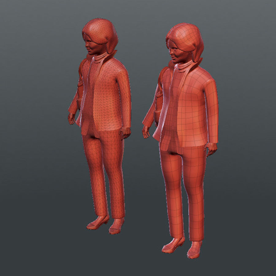 Gens d'affaires 02 (bureau d'information) royalty-free 3d model - Preview no. 12