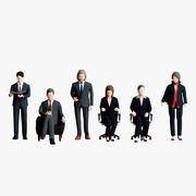 Ludzie biznesu 02 (biuro informacji) 3d model