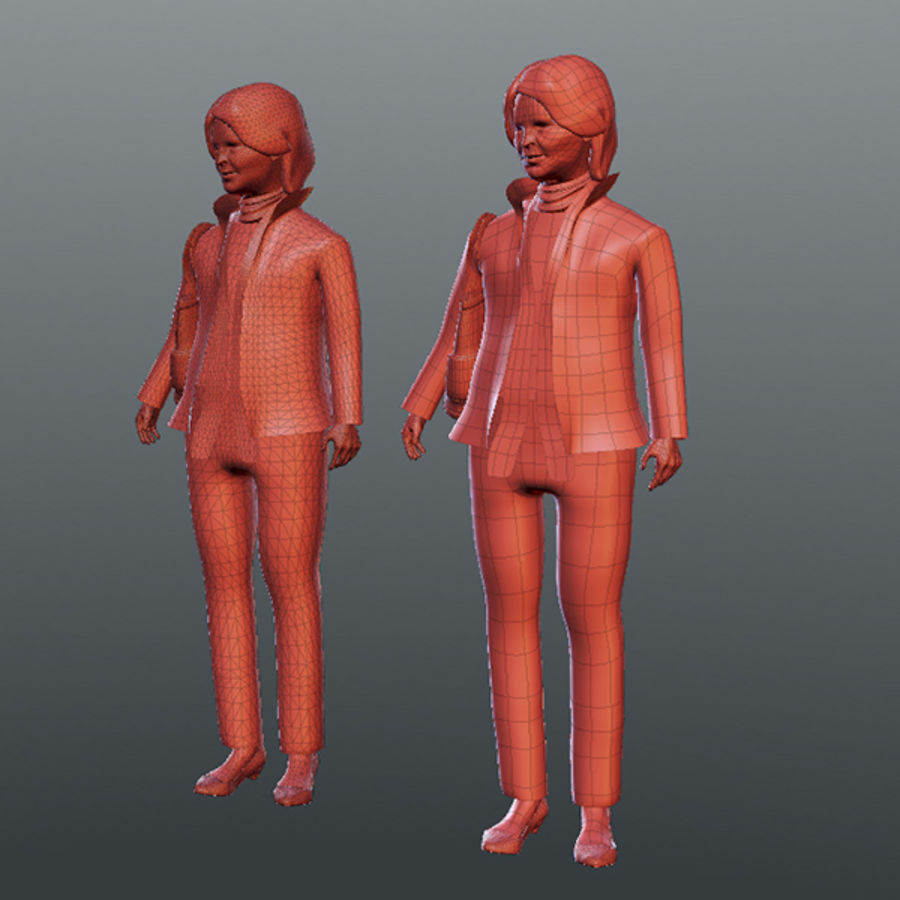İş Adamları 02 (info Desk) royalty-free 3d model - Preview no. 1