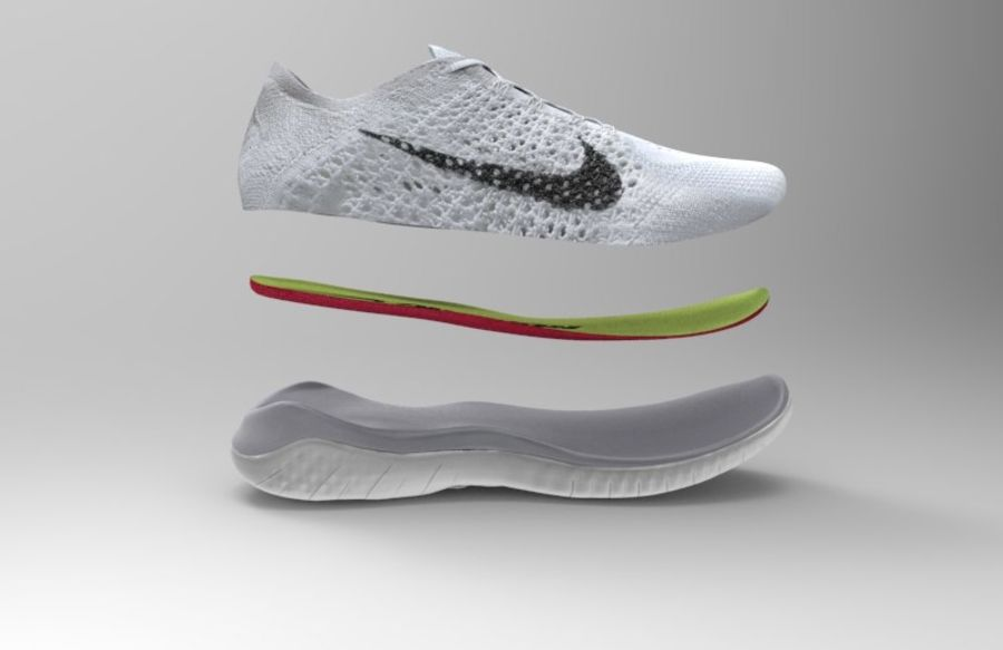 Flyknit gratuit 2018 royalty-free 3d model - Preview no. 2