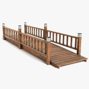 Wood Bridge 3d model