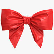 Low Poly Red Bow 3d model