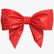 Petit arc rouge poly 3d model
