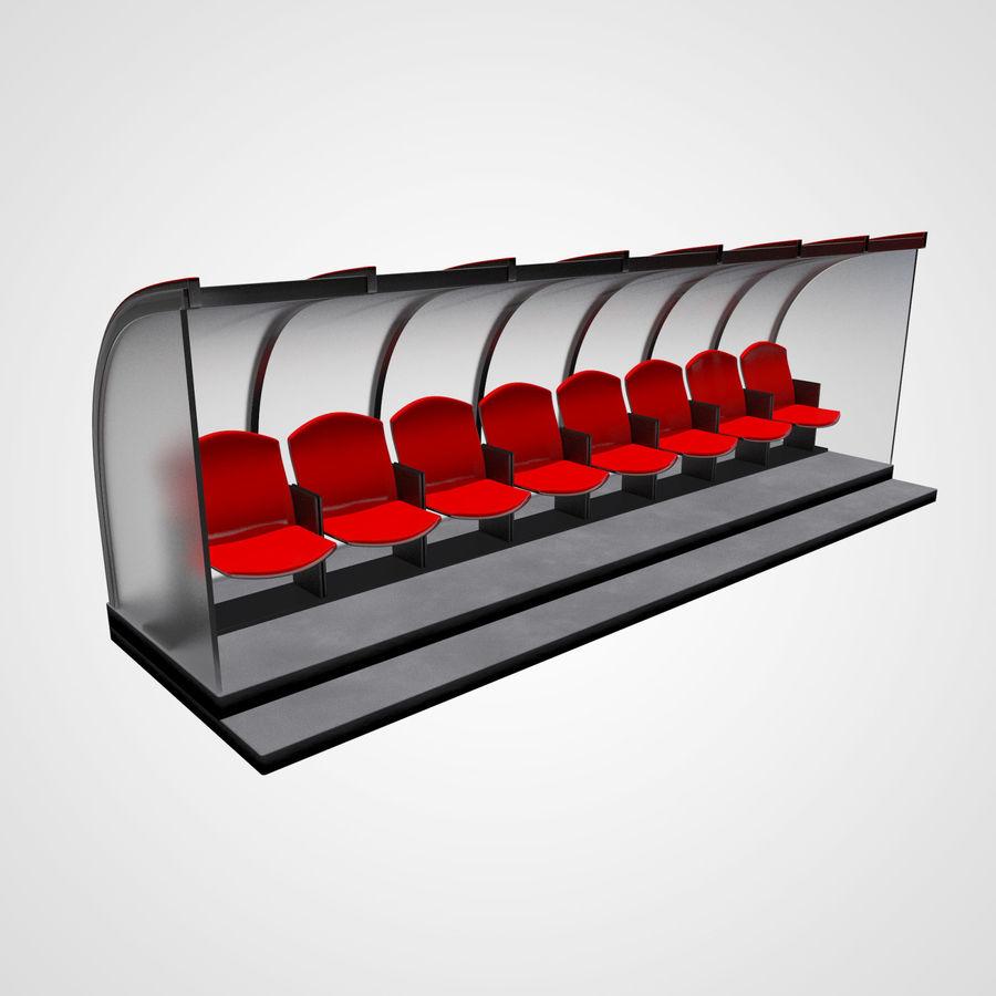 Pirogue de sport royalty-free 3d model - Preview no. 3