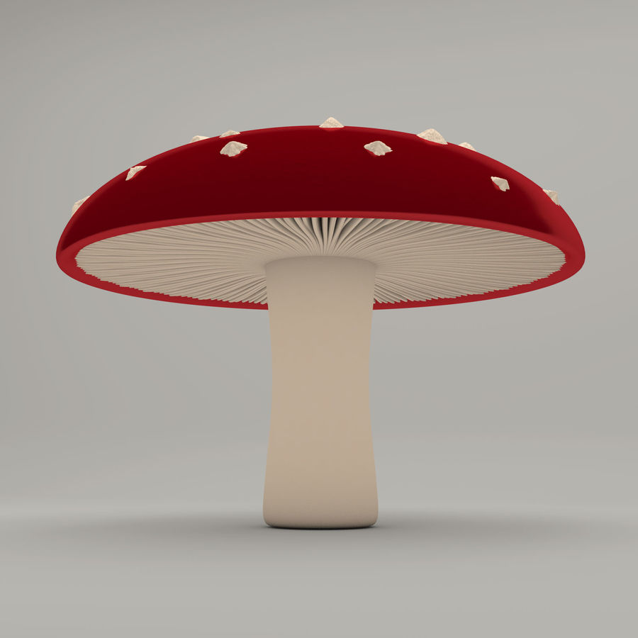 Cogumelo royalty-free 3d model - Preview no. 3
