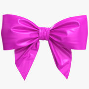 Low Poly Purple Bow 3d model