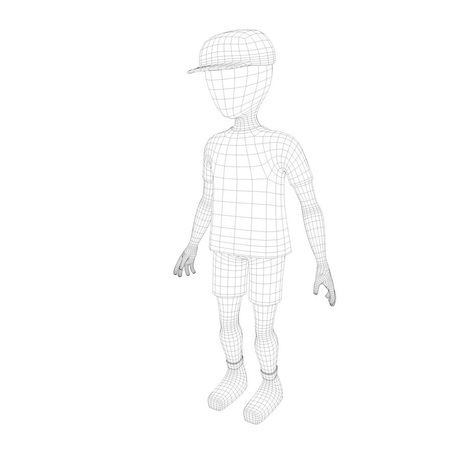 Boy Character royalty-free 3d model - Preview no. 7