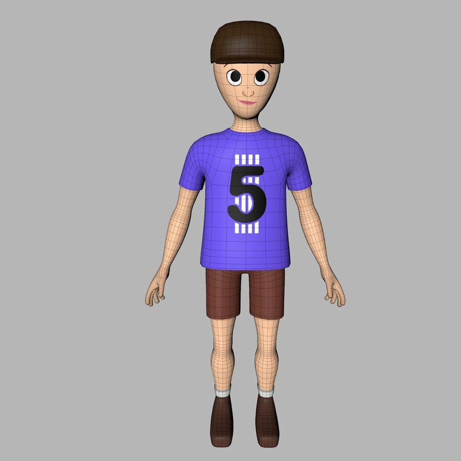 Boy Character royalty-free 3d model - Preview no. 9