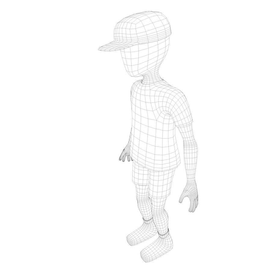 Boy Character royalty-free 3d model - Preview no. 8