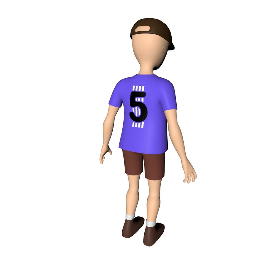 Boy Character royalty-free 3d model - Preview no. 6