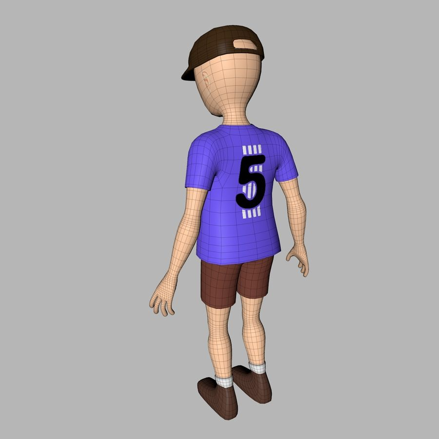 Boy Character royalty-free 3d model - Preview no. 10