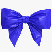 Low Poly Blue Bow 3d model