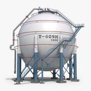 Storage Spherical Tank Clear 3d model