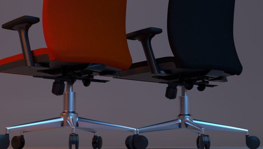 rigged base office boss chair royalty-free 3d model - Preview no. 11