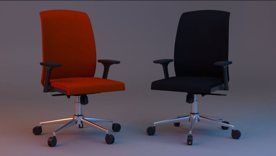 rigged base office boss chair royalty-free 3d model - Preview no. 1