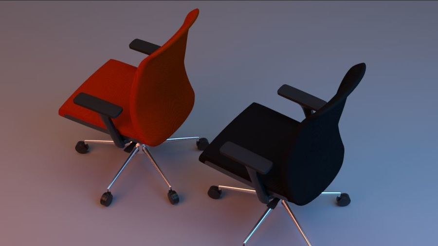 rigged base office boss chair royalty-free 3d model - Preview no. 5