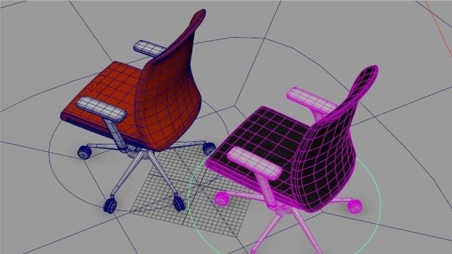 rigged base office boss chair royalty-free 3d model - Preview no. 6
