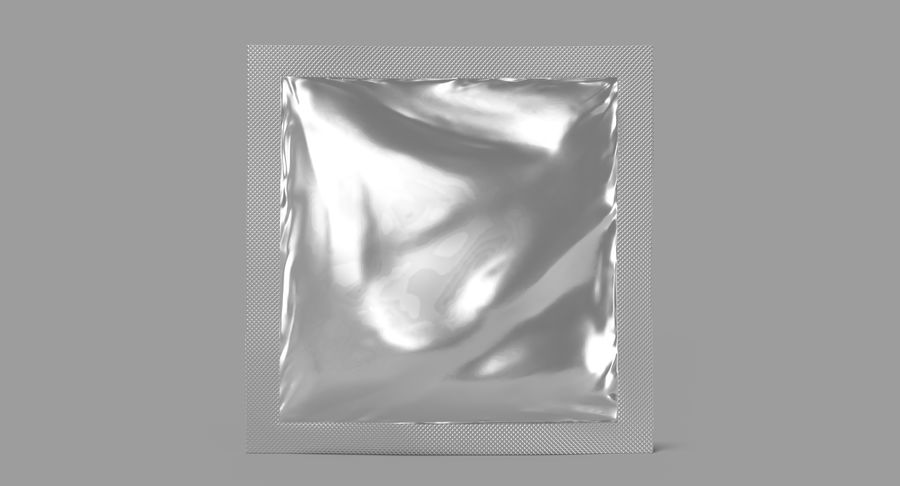 Sample Sachet v5 royalty-free 3d model - Preview no. 3