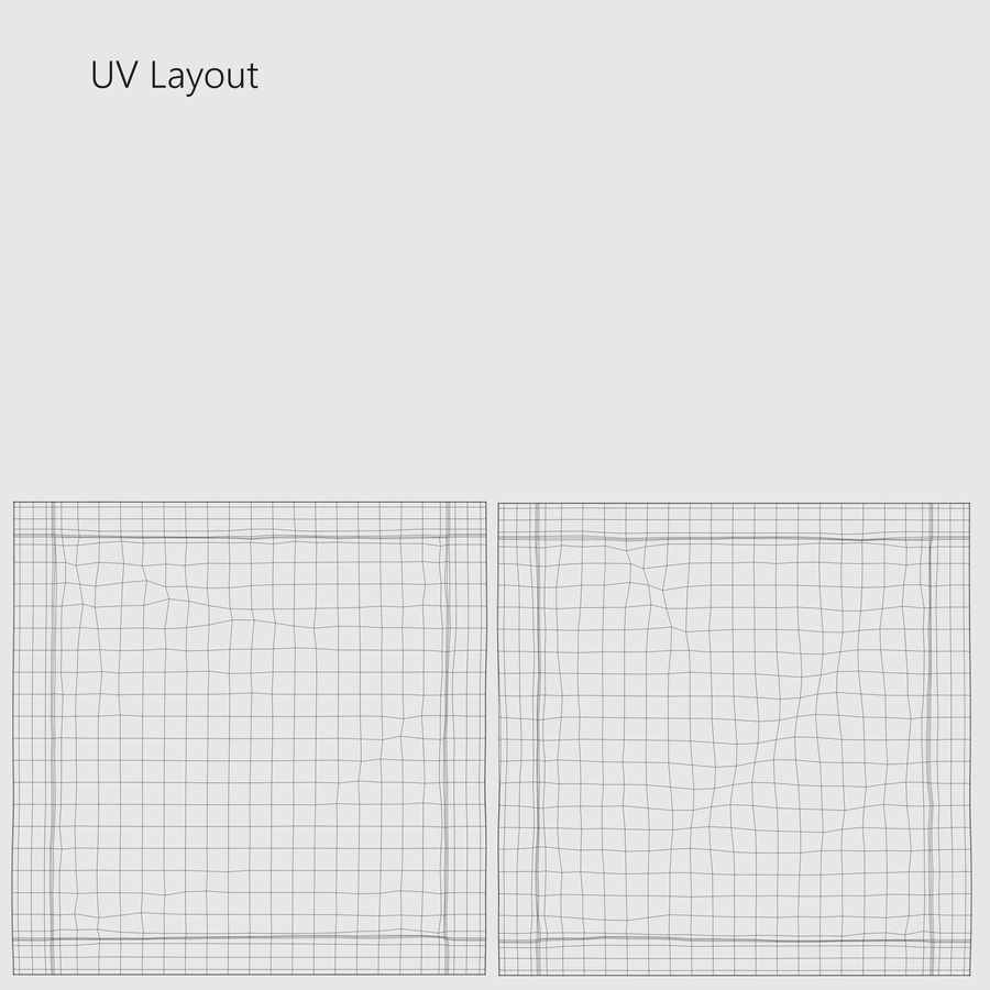 Sample Sachet v5 royalty-free 3d model - Preview no. 14